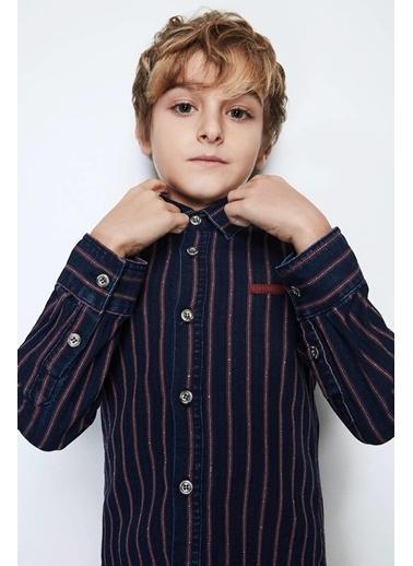 Nebbati Erkek Çocuk Jean Gömlek Mavi